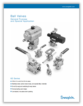 Fill the form to access all Swagelok ball valve catalogs