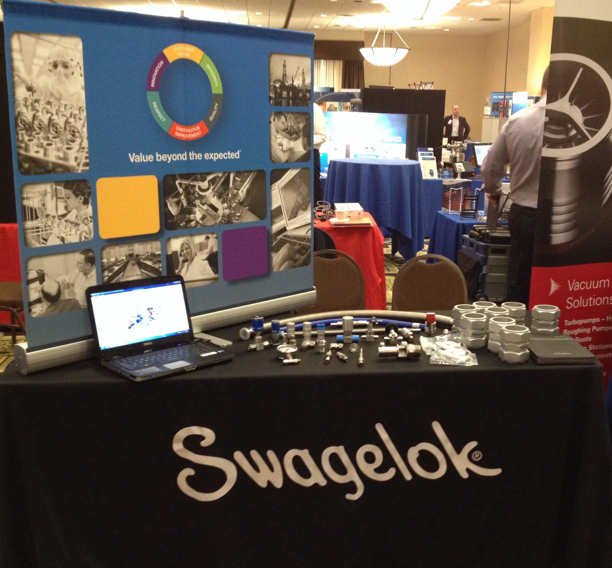 Blogging live at the Swagelok Northern California vacuum show booth