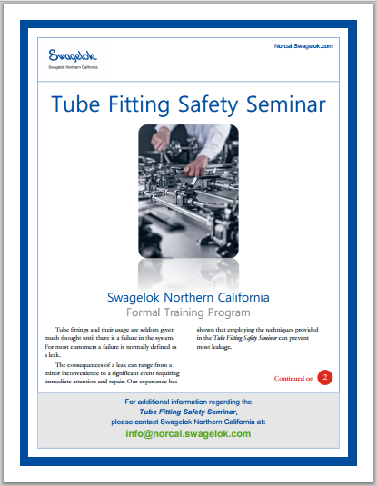Developing a 'feel' for tube fittings can lead to big problems
