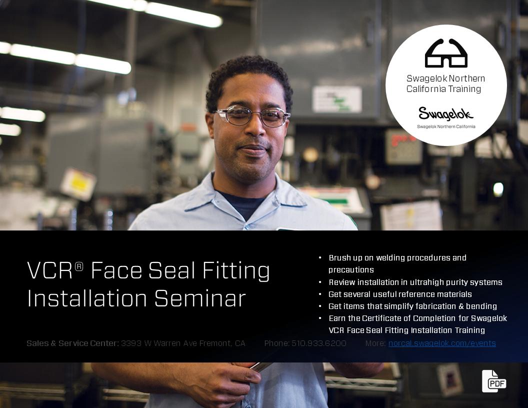 Swagelok VCR Gasket Face Seal Fitting Installation