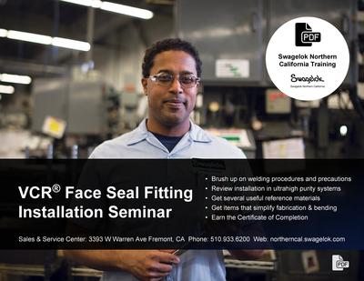 Swagelok VCR Face Seal Fitting Installation Seminar
