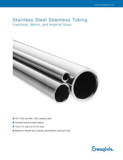 Swagelok tubing catalog seamless steel pressure