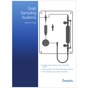 Details on 15 standard grab sample panel designs, a product selection matrix, and more