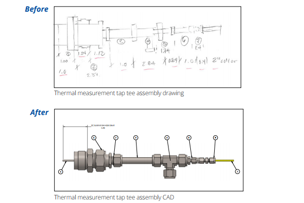 Our engineering team turned a semi client's pencil sketch into four thermocouple assemblies in two weeks.