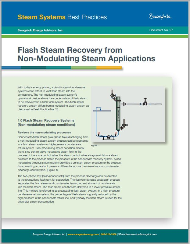 Flash Steam Recovery on Non-Modulating Steam Applications