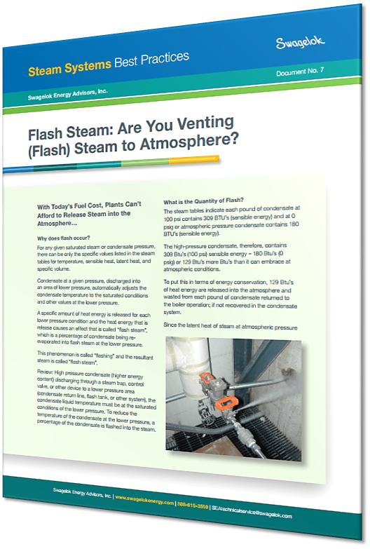 Are You Venting Flash Steam to Atmosphere?