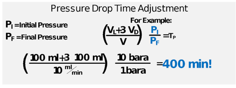 Pressure Drop Time Adjustment