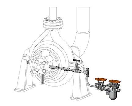 Atmospheric Side Mechanical Seal Support Flushing Plans