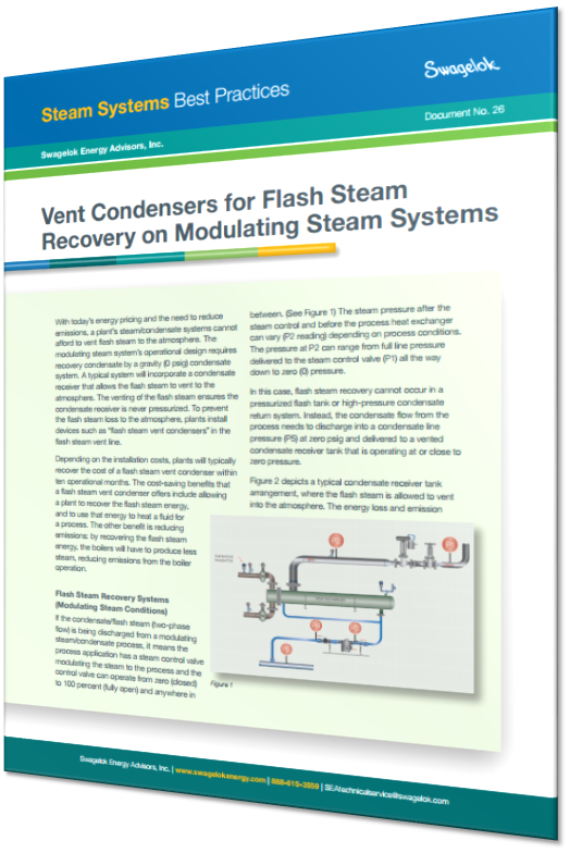 Vent Condensers for Flash Steam Recovery on Modulating Steam Systems
