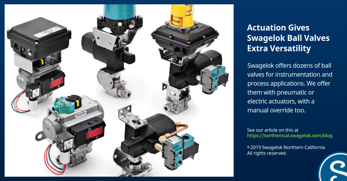 Actuation Gives Swagelok Ball Valves Extra Versatility