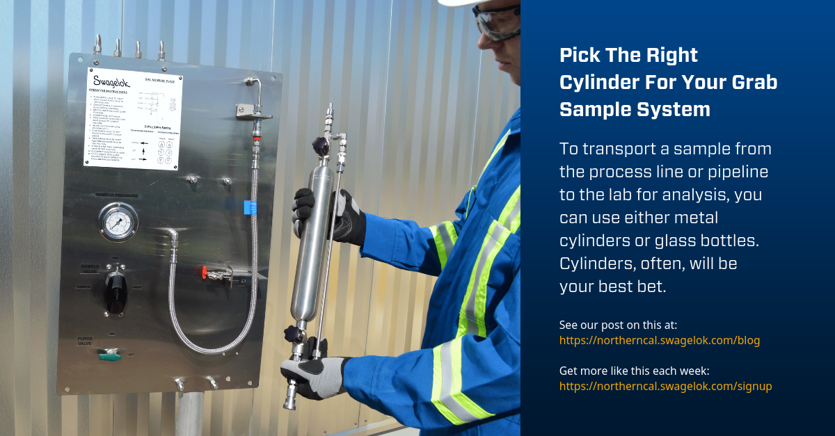 Pick The Right Cylinder For Your Grab Sample System