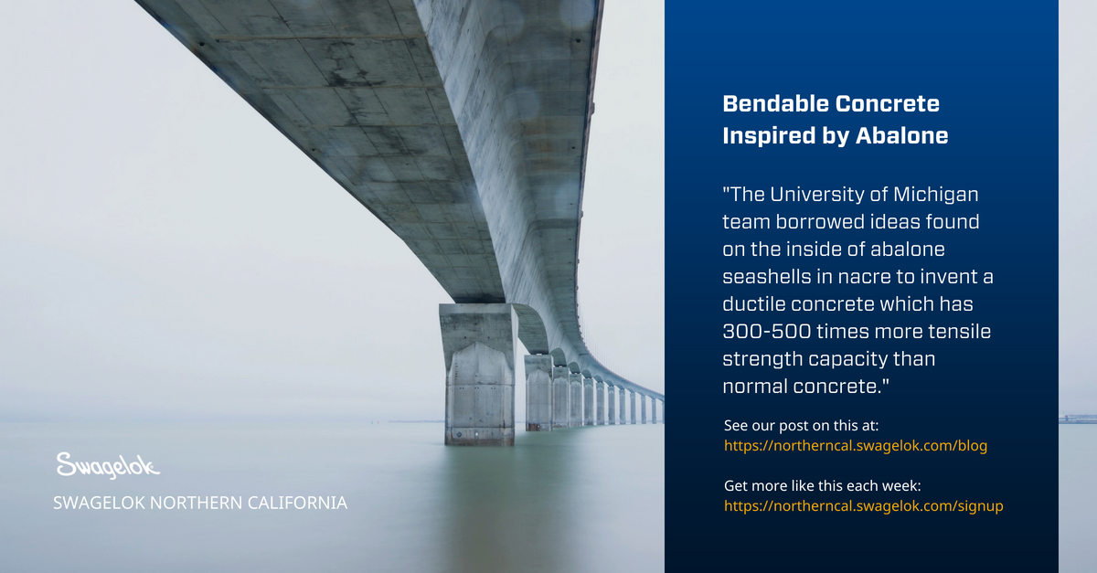 Bendable Concrete Inspired by Abalone Shells
