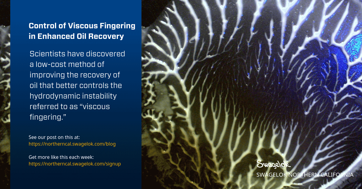 Control of Viscous Fingering in Enhanced Oil Recovery