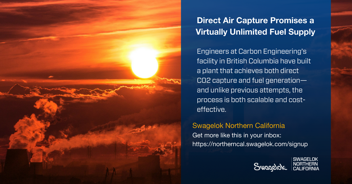 Direct Air Capture Promises a Virtually Unlimited Fuel Supply