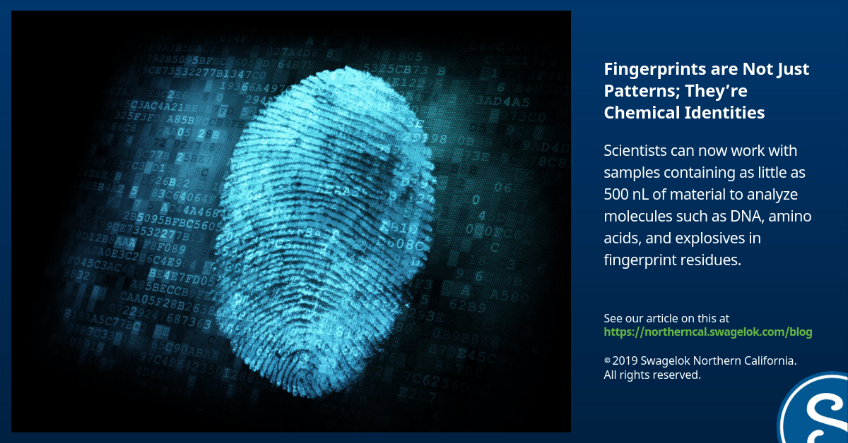 Fingerprints are More Than Just Patterns; They're Chemical Identities