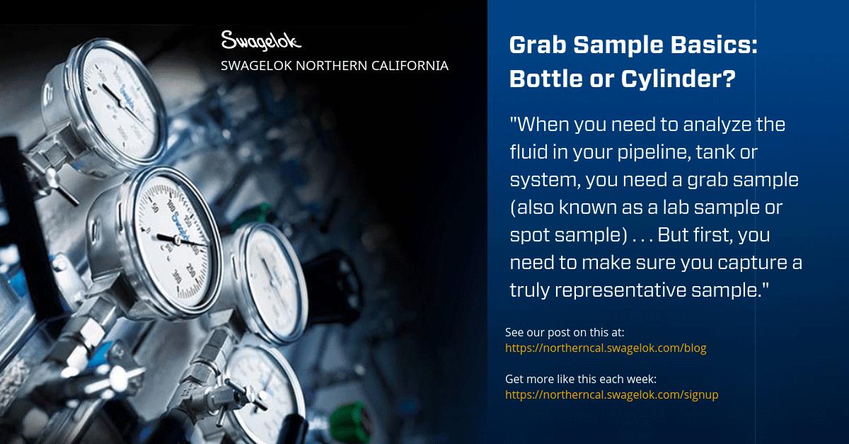 Grab Sample Basics: Bottle or Cylinder?