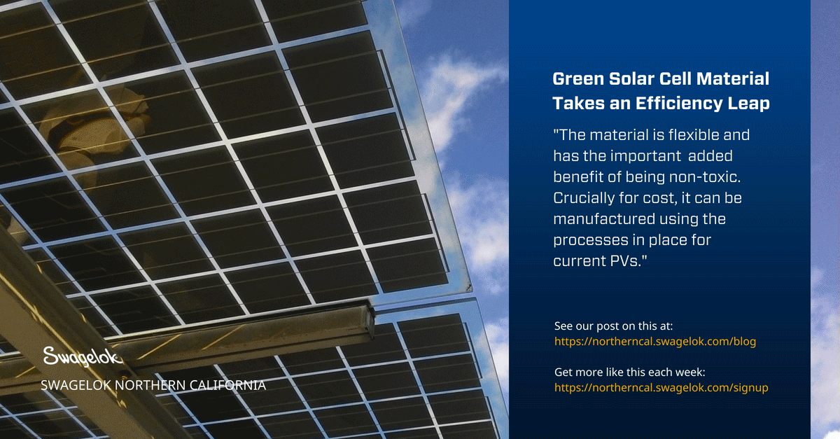 Green Solar Cell Material Takes an Efficiency Leap