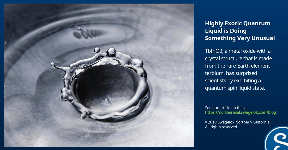 Highly Exotic Quantum Liquid is Doing Something Very Unusual