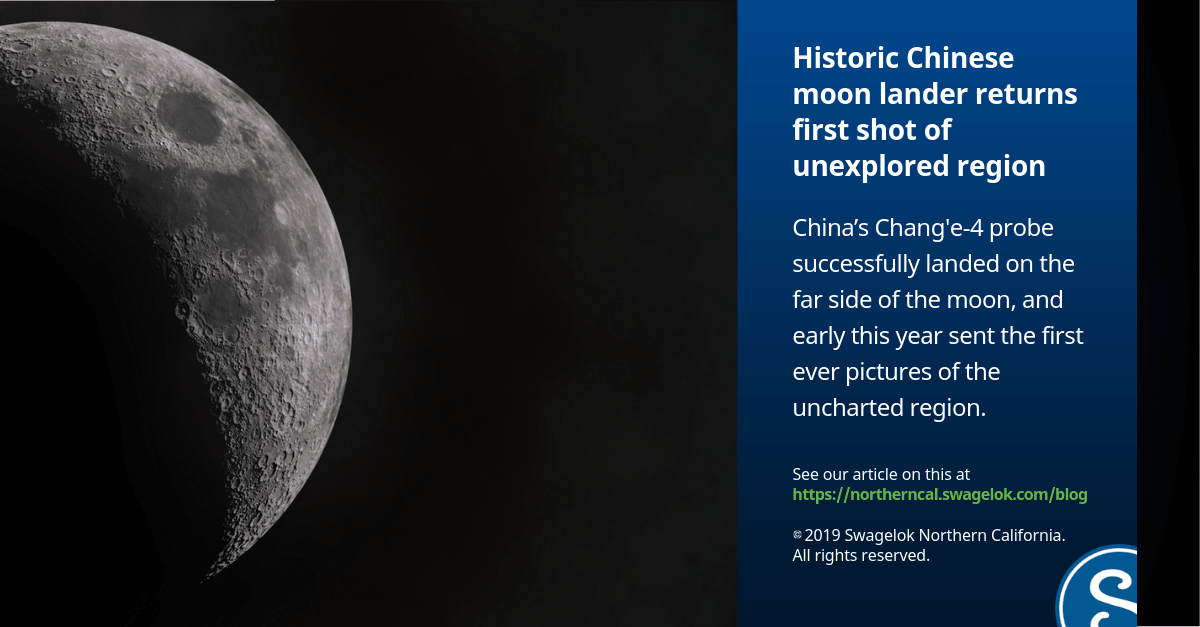 Historic Chinese Moon Lander Returns First Shot of Unexplored Region