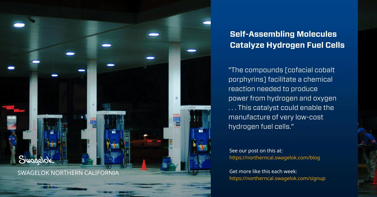 Self-Assembling Molecules Catalyze Hydrogen Fuel Cells