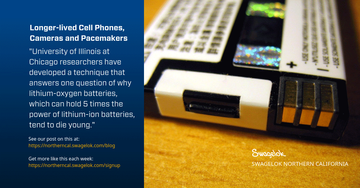 Longer-lived Cell Phones, Cameras and Pacemakers