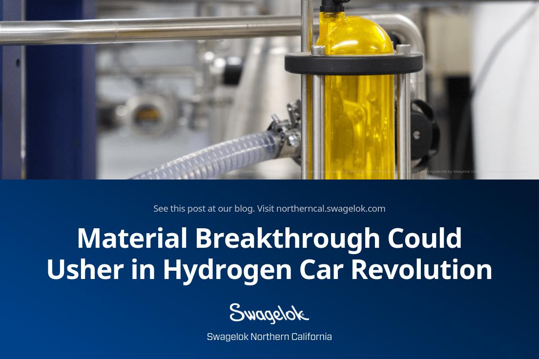 Material Breakthrough Could Usher in Hydrogen Car Revolution