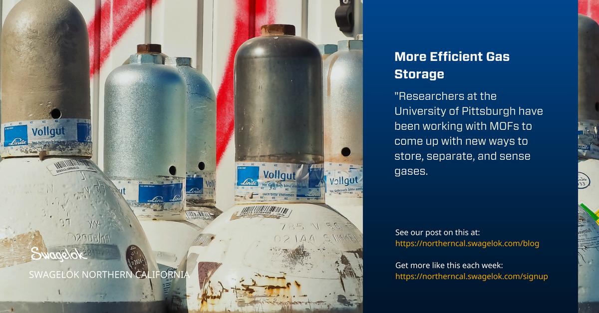 More Efficient Gas Storage