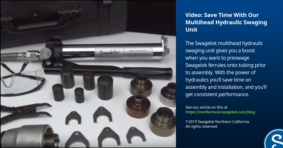 Save Time With Our Multihead Hydraulic Swaging Unit