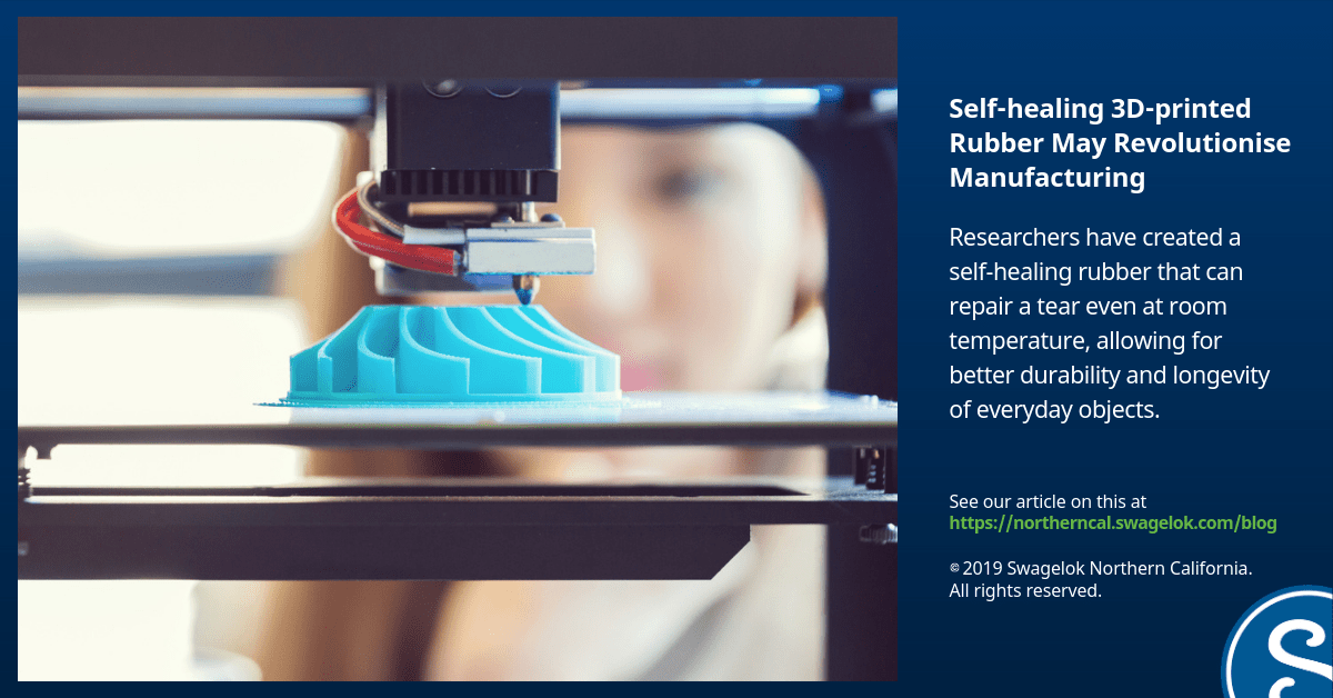 Incredible Self-healing 3D-printed Rubber Could Revolutionise Manufacturing