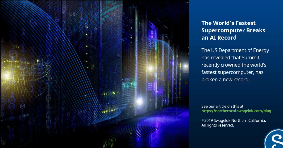 The World's Fastest Supercomputer Breaks an AI Record