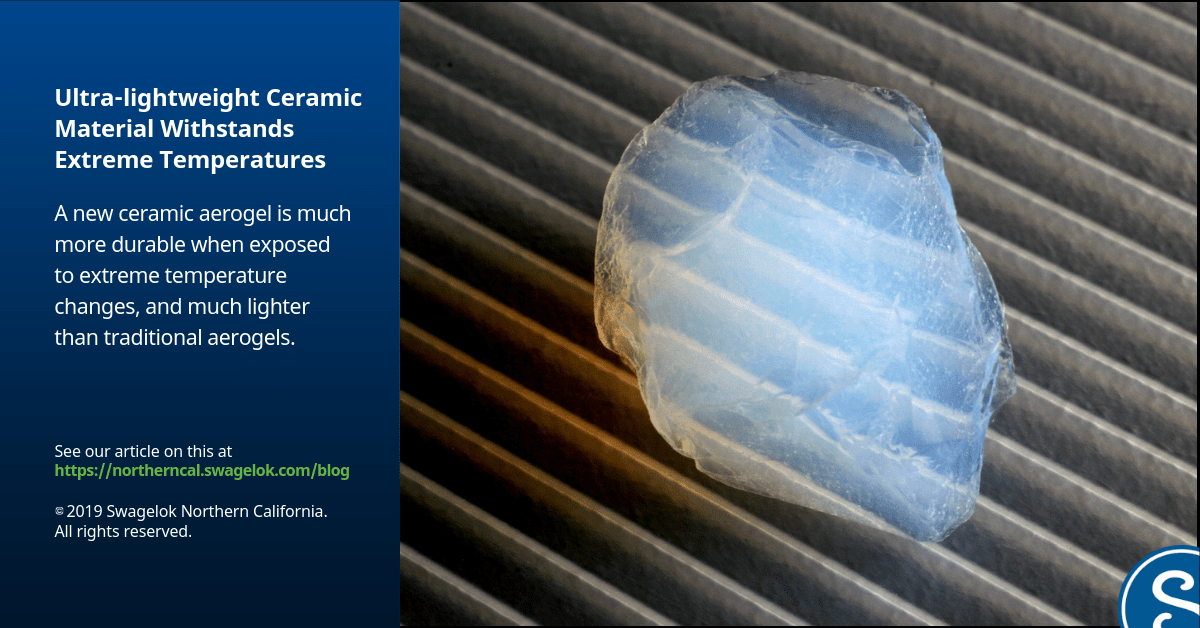 Ultra-lightweight Ceramic Material Withstands Extreme Temperatures